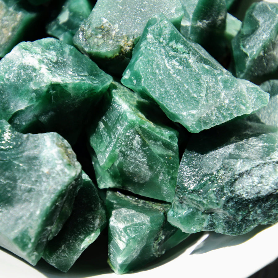 Imperial Green Aventurine Natural Chunks from India