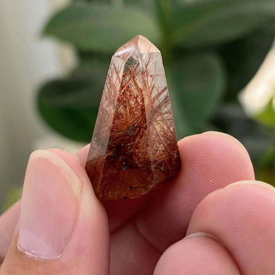 Mini Rutilated Quartz Tower from Brazil
