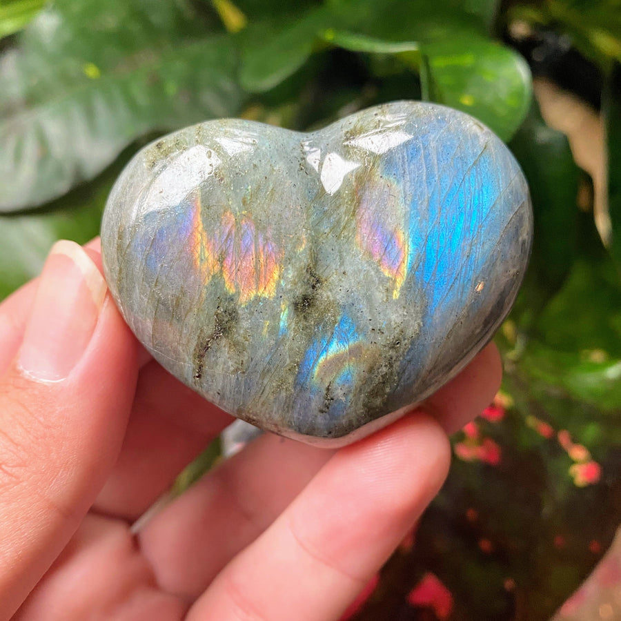 Labradorite Heart from Madagascar