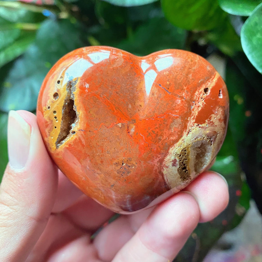 Red Jasper Heart from Madagascar