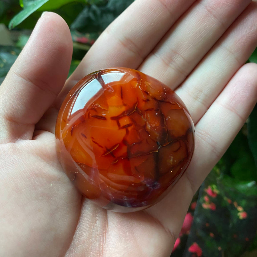 Carnelian Pocket Stone from Madagascar