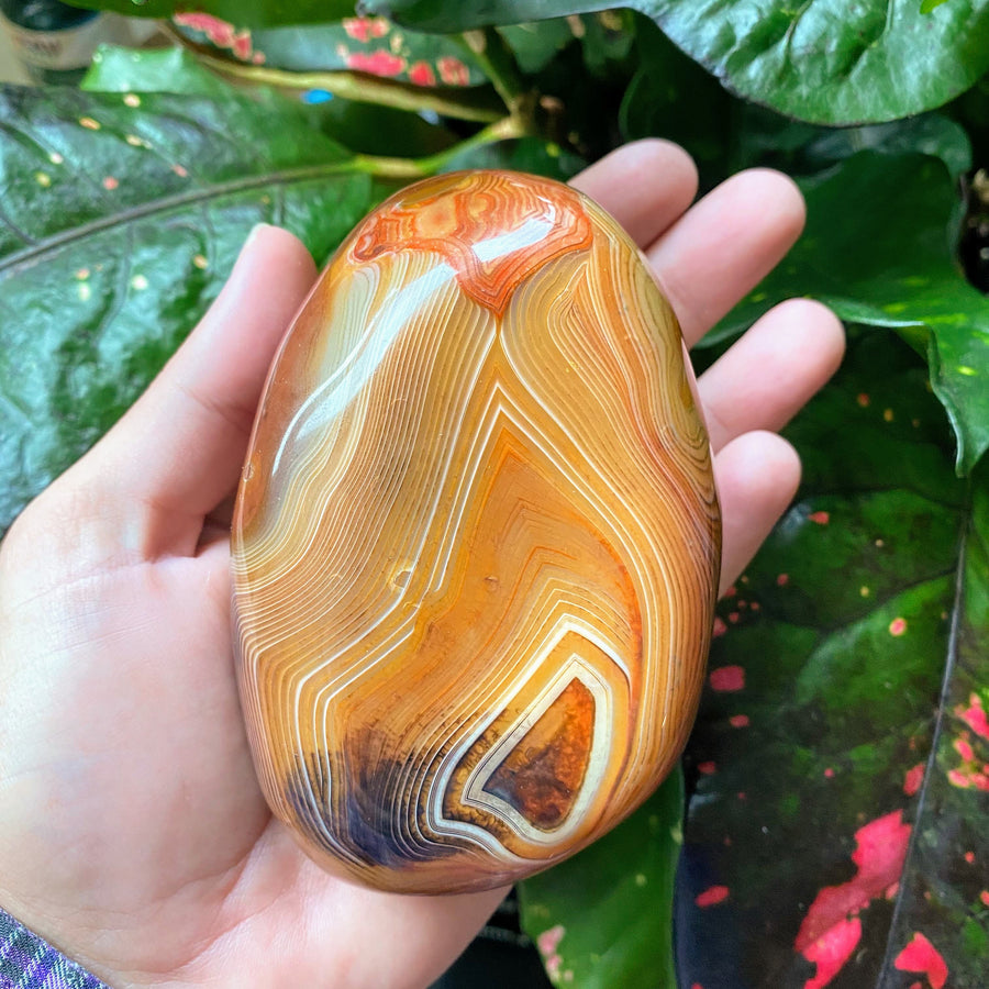 Banded Agate Pocket Stone from Madagascar