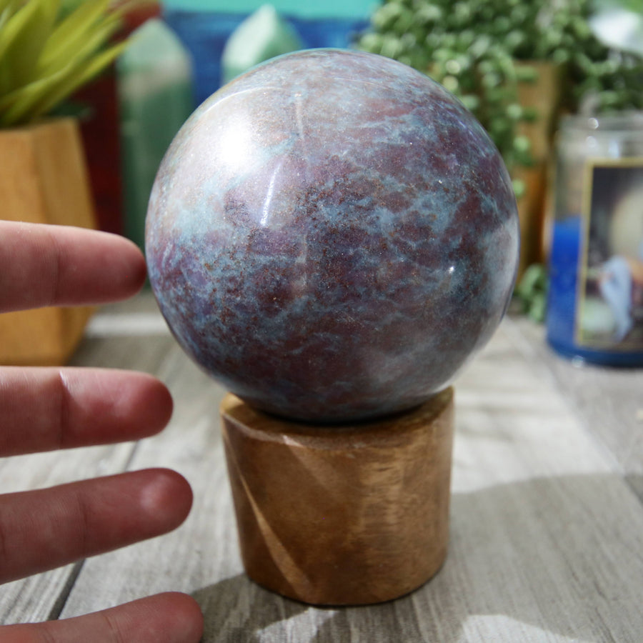 Ruby and Kyanite Sphere from India