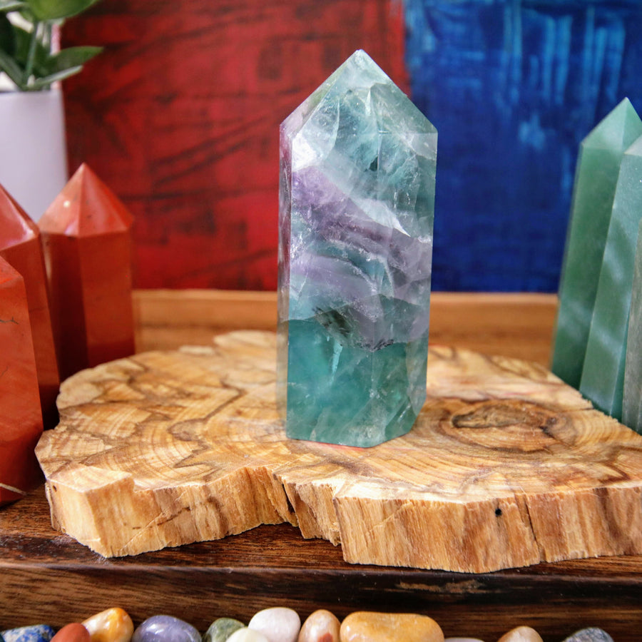 Rainbow Fluorite Tower from China