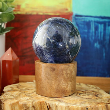 Sodalite Sphere from Brazil