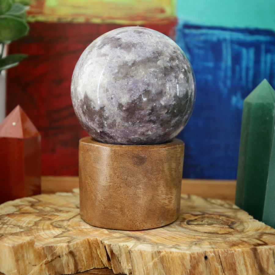 Lepidolite Sphere from Brazil