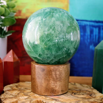 Green Fluorite Sphere from Madagascar