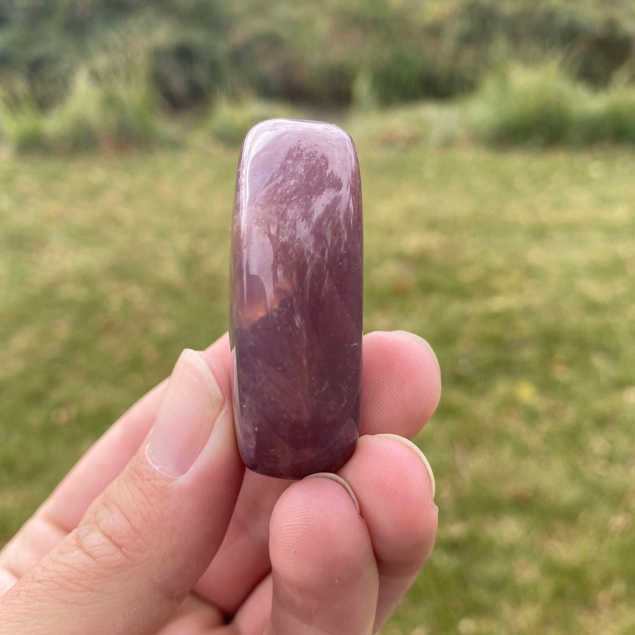 Purple Rose Quartz Pocket Stone from Mozambique