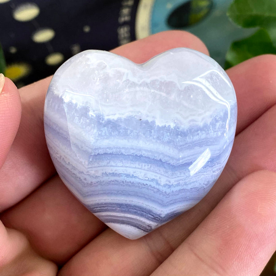 Blue Lace Agate Heart from South Africa