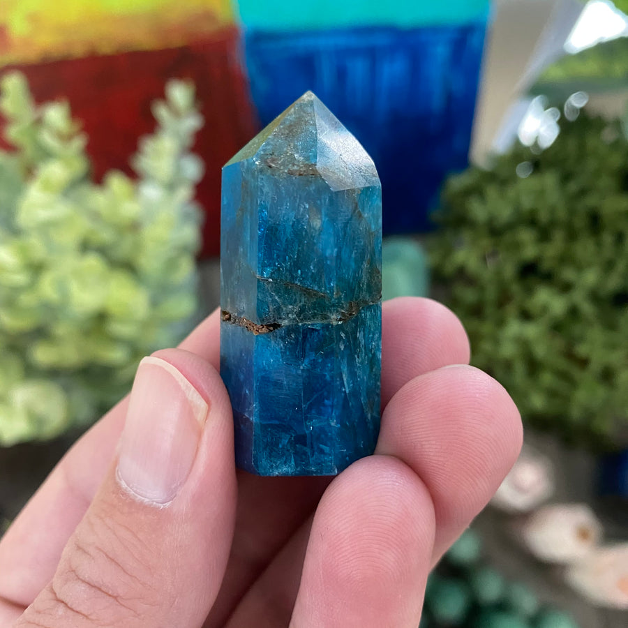 Blue Apatite Tower from Madagascar