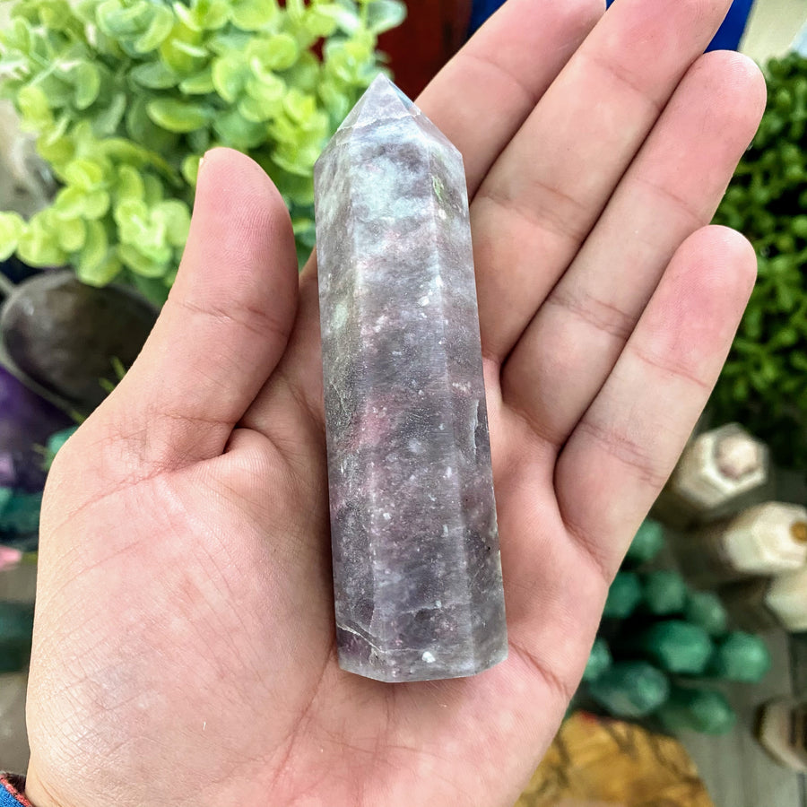 Lepidolite Tower from Brazil