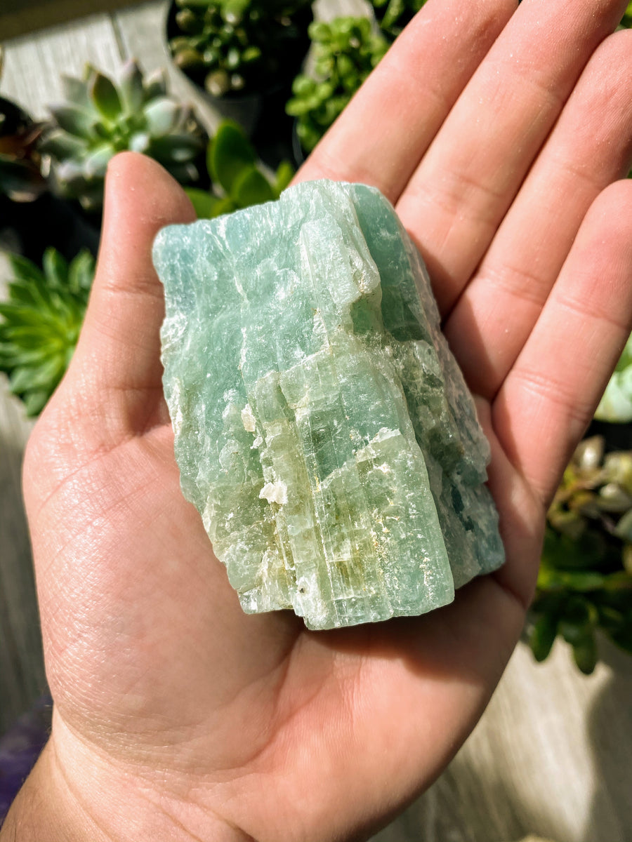 3 inch natural aquamarine chunk from Brazil