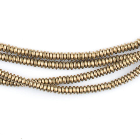 Image of Brass Smooth Heishi Beads (3mm) - The Bead Chest