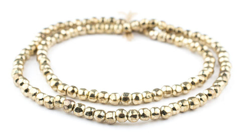 Image of Rounded Gold Nugget Beads (6mm) - The Bead Chest