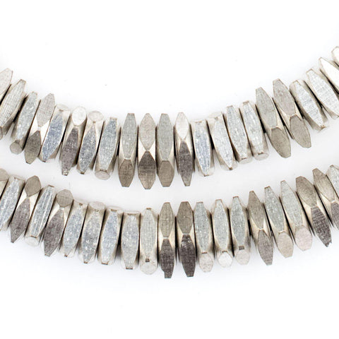 Faceted Silver Square Beads (9mm) - The Bead Chest