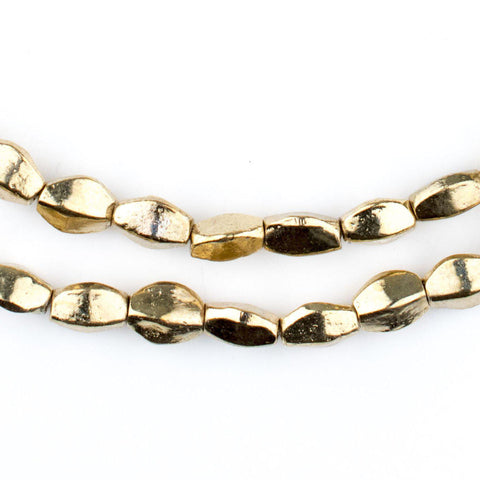 Gold Twisted Nugget Beads - The Bead Chest