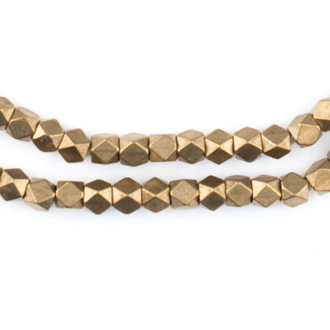 Antiqued Brass Faceted Diamond Cut Beads (4mm) - The Bead Chest