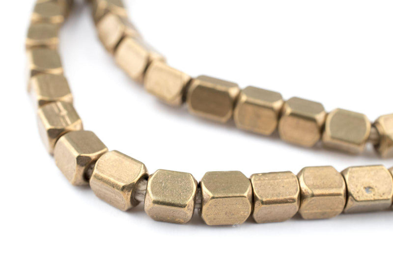 Antiqued Brass Cube Beads (5mm) - The Bead Chest