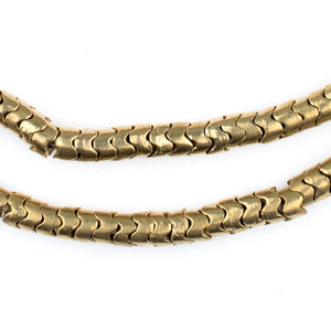 Brass Interlocking Snake Beads (6mm) - The Bead Chest