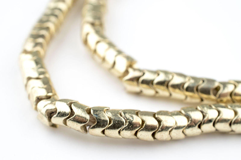 Gold Interlocking Snake Beads (5mm) - The Bead Chest
