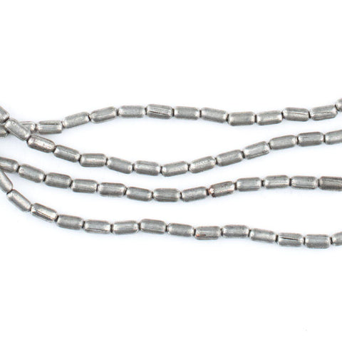 Tiny Silver Oval Beads (4x2mm) - The Bead Chest