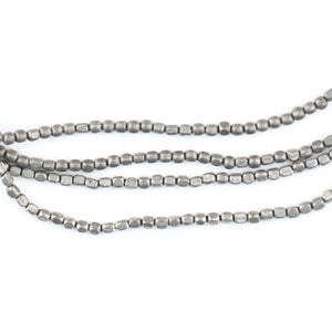 Tiny Silver Rounded Rectangle Beads (2mm) - The Bead Chest
