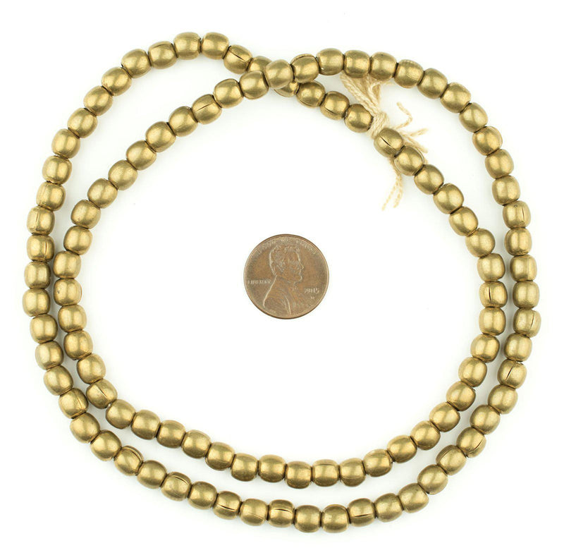 Brass Melon Beads (6mm) - The Bead Chest