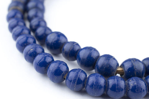 Round Navy Blue Padre Beads (9mm) - The Bead Chest