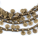 Brass Mini Baule Charm Beads (Double Strand Necklace)