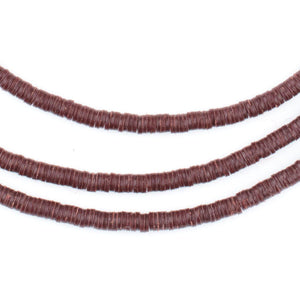 Maroon Phono Record Vinyl Beads (3mm) - The Bead Chest