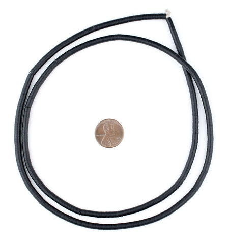 Old Black Phono Record Vintage Vinyl Beads (4mm) - The Bead Chest