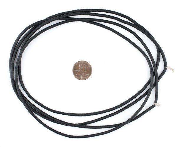 Old Black Phono Record Vintage Vinyl Beads (3mm)