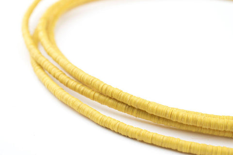 Image of Yellow Phono Record Vinyl Beads (3mm) - The Bead Chest