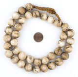 Vintage Spherical Naga Conch Shell Beads (16mm)
