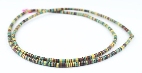 Rasta Medley Vinyl Phono Record Beads (4mm) - The Bead Chest