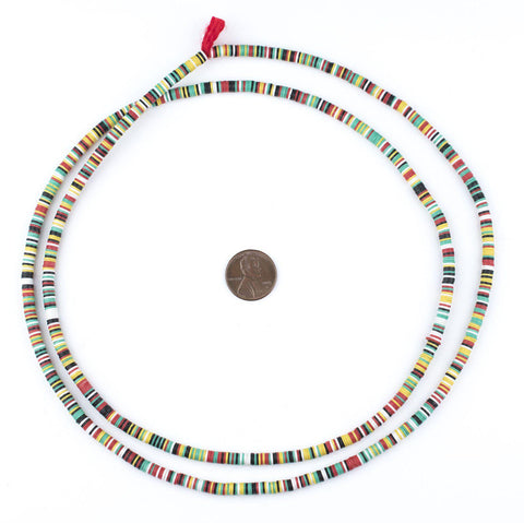 Earth Medley Vinyl Phono Record Beads (4mm) - The Bead Chest