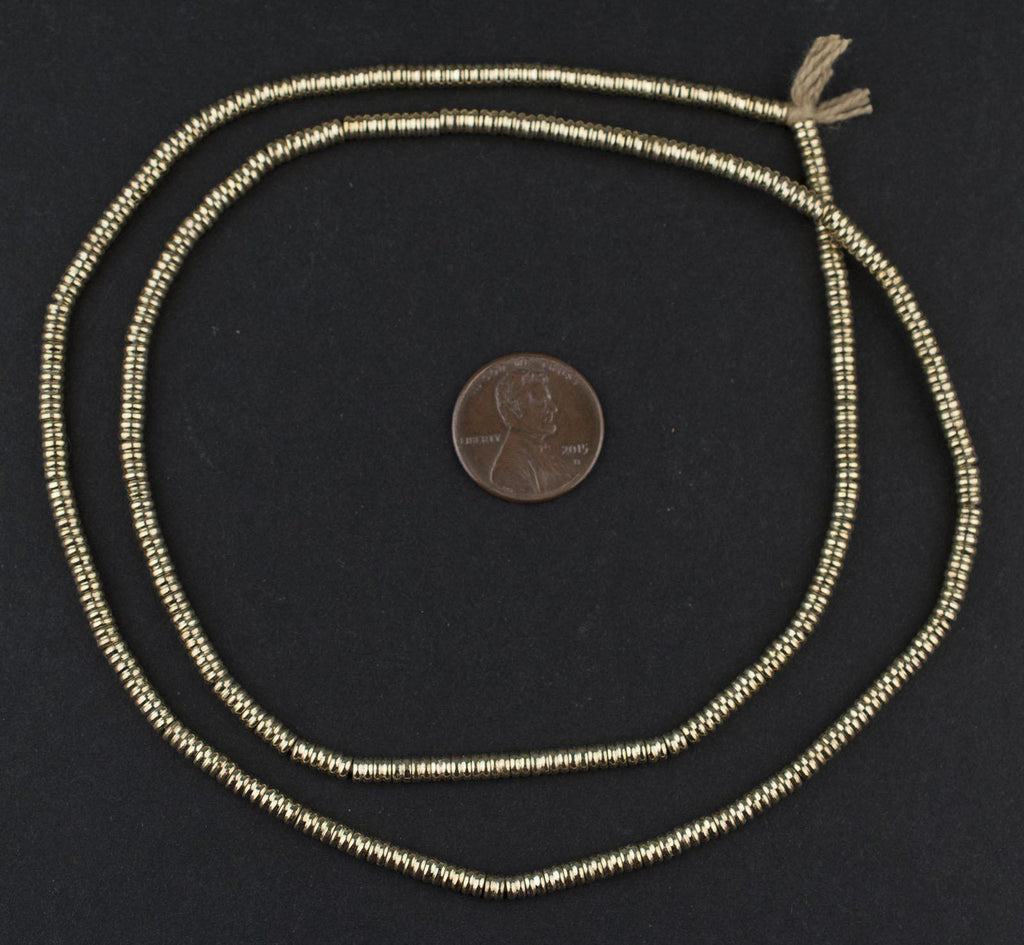 Gold Double Heishi Beads (3mm) - The Bead Chest