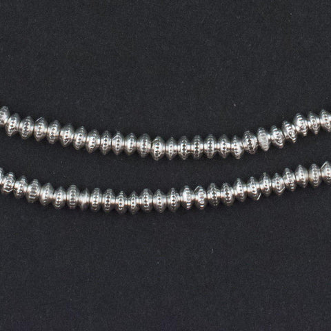 Silver Patterned Heishi Beads (3mm) - The Bead Chest