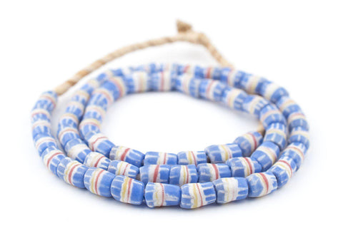Image of Blue Strawstack Sandcast Beads - The Bead Chest