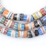 Multicolor Strawstack Sandcast Beads
