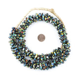 Jumbo Fused Rondelle Recycled Glass Beads