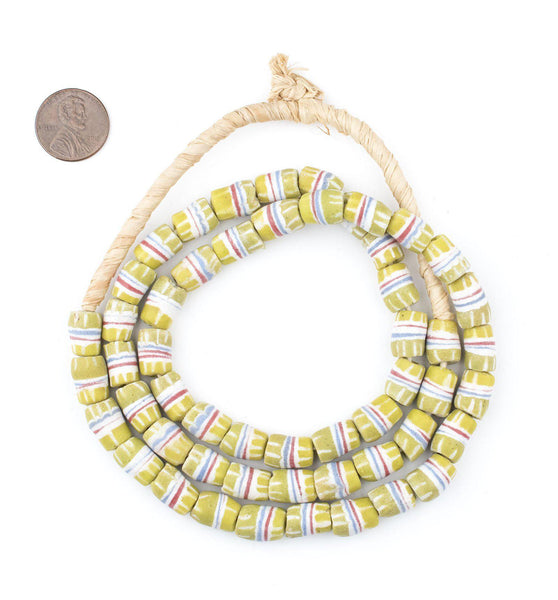 Light Green Strawstack Beads