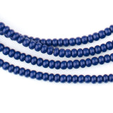 Navy Blue Ghana Glass Beads (4mm)