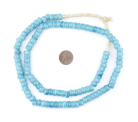 Sky Blue Kakamba Prosser Beads - The Bead Chest