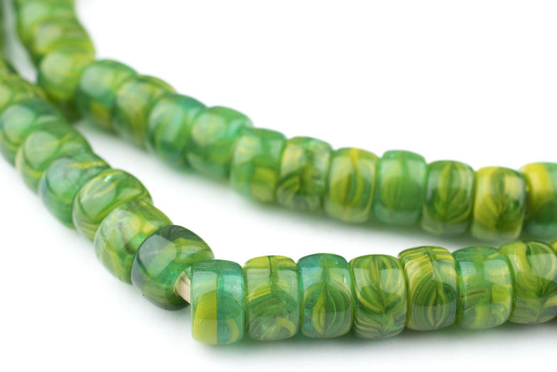 Jungle Green Kakamba Prosser Beads - The Bead Chest