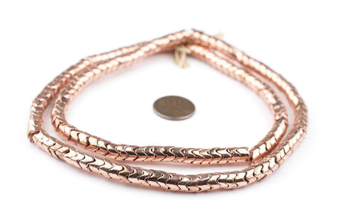 Image of Copper Interlocking Snake Beads (6mm) - The Bead Chest