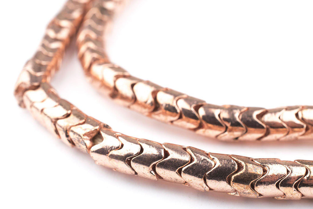 Copper Interlocking Snake Beads (6mm) - The Bead Chest