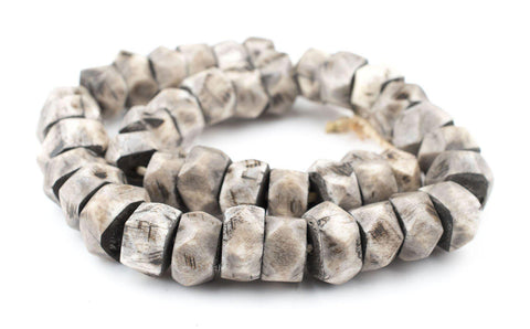 Grey Bone Beads (Faceted) - The Bead Chest
