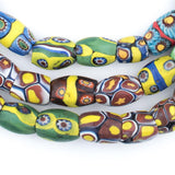 Hot Deal: Oval Antique Venetian African Millefiori Trade Beads