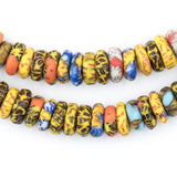 Kumasi Medley Fused Rondelle Recycled Glass Beads (11mm)